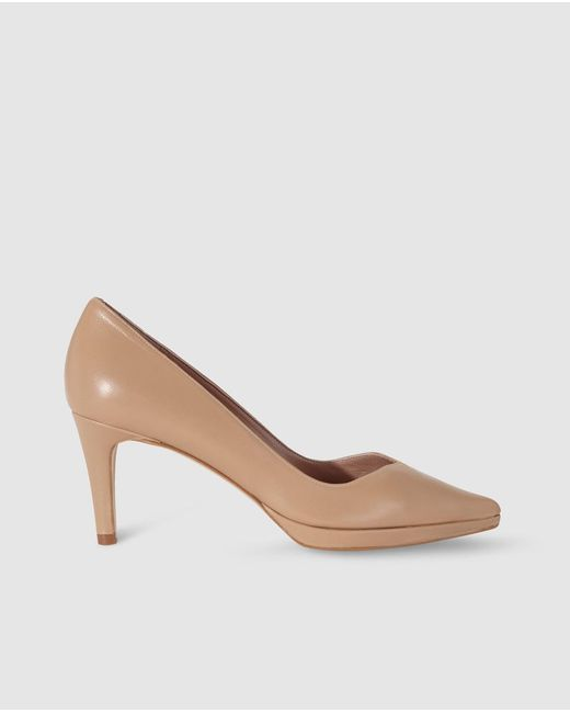 Gloria Ortiz - Natural Beige Leather Court Shoes - Lyst