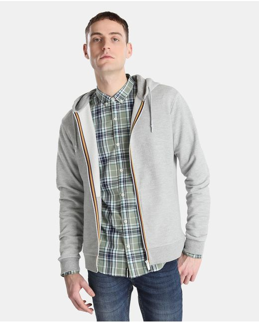 GREEN COAST | Gray Grey Casual Jacket With Hood for Men | Lyst