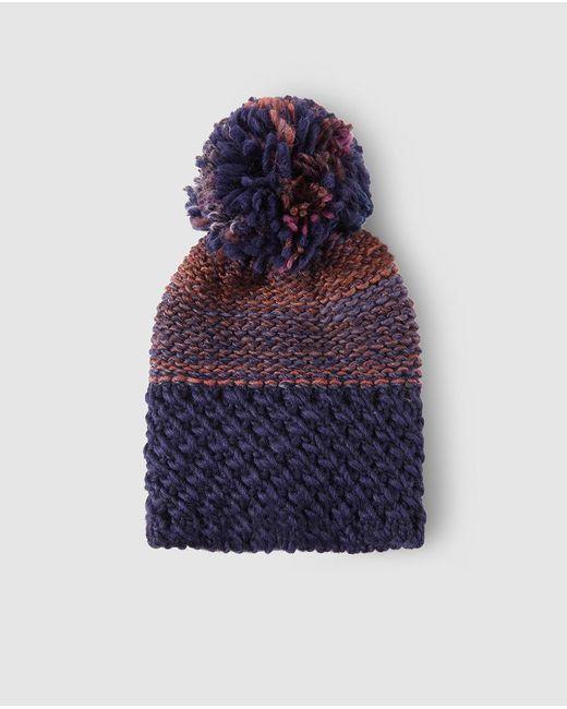 9b2eb0233b7 El Corte Inglés - Multicolor Wo Purple Combined Knit Hat - Lyst ...