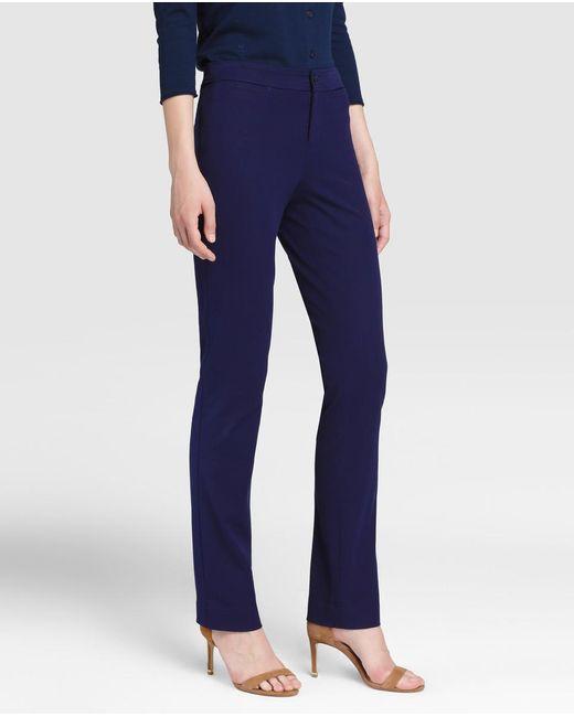 Lauren by Ralph Lauren | Navy Blue Straight Trousers | Lyst