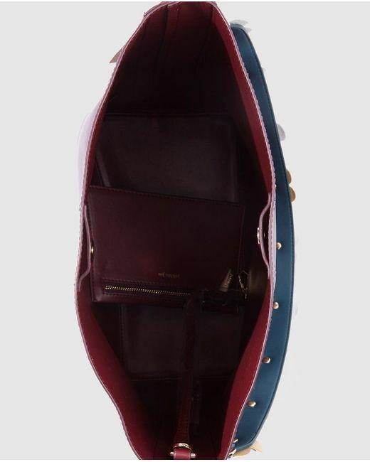 c46381bf5e ... Jo   Mr. Joe - Purple Memphis Burgundy Hobo Bag With A Floral Print  Strap