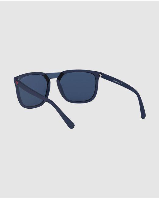 b9ea9852b764 ... Emporio Armani - Injected Blue Sunglasses for Men - Lyst ...