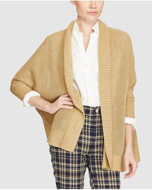 Polo Ralph Lauren | Natural Beige Cardigan With French Sleeves | Lyst