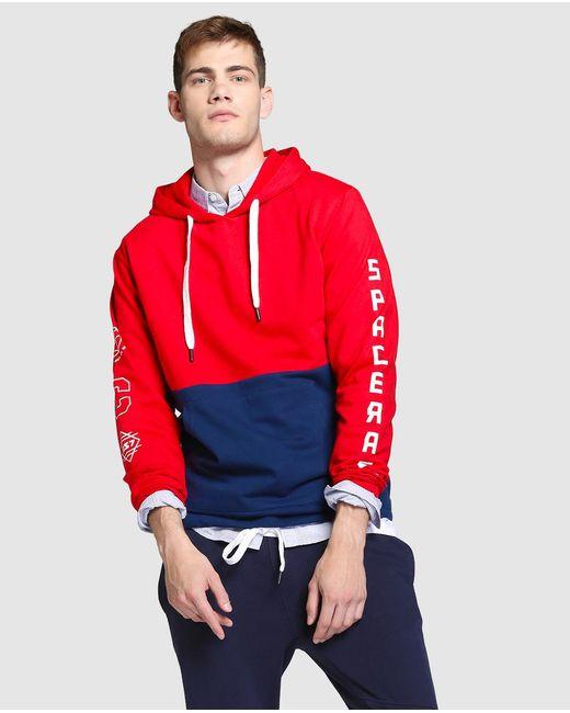 GREEN COAST | Red Hooded Sweatshirt for Men | Lyst