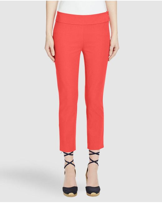 Lauren by Ralph Lauren | Pink Coral Cropped Trousers | Lyst