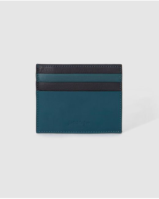 Jo & Mr. Joe - Mens Blue Leather Card Holder for Men - Lyst