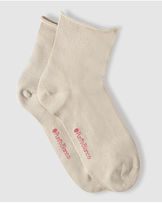 Punto Blanco | Natural Plain-coloured Roll-top Socks for Men | Lyst