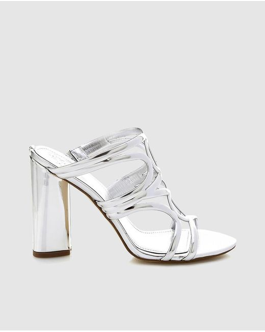 Guess - Metallic Silver Clogs With Plaited Vamp - Lyst