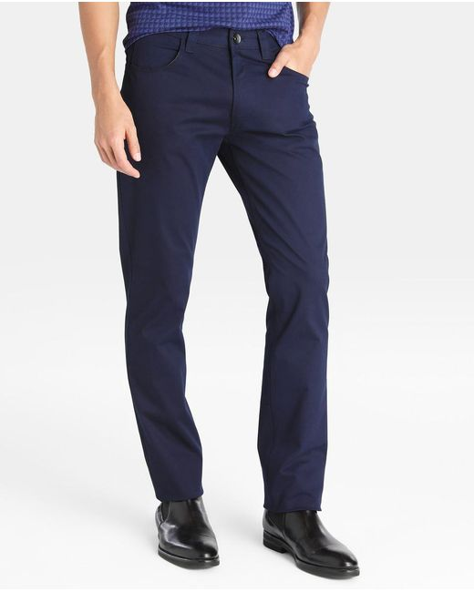 Armani | Regular-fit Blue Five-pocket Trousers for Men | Lyst