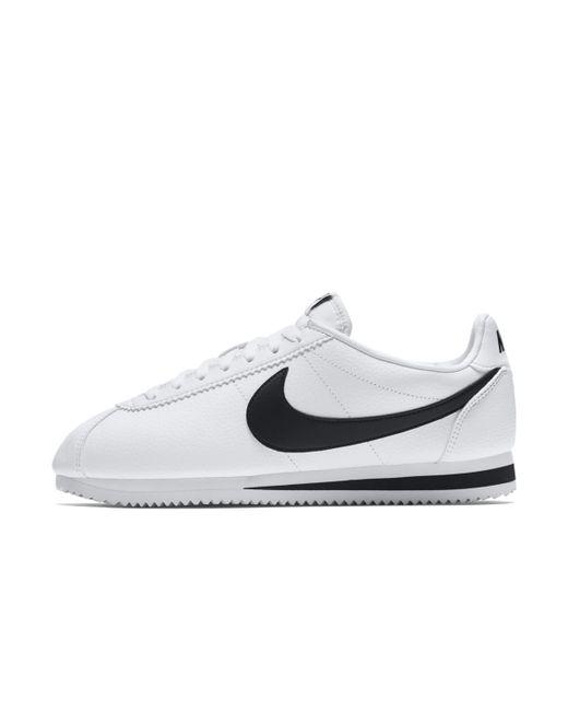 8965e6949 ... australia nike white classic cortez leather casual trainers for men lyst  aa142 9f7c1