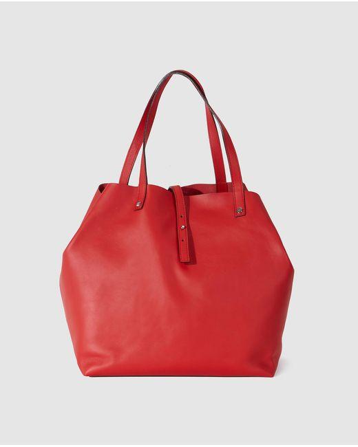 Gloria Ortiz - Sofia Red Leather Shopper Bag - Lyst