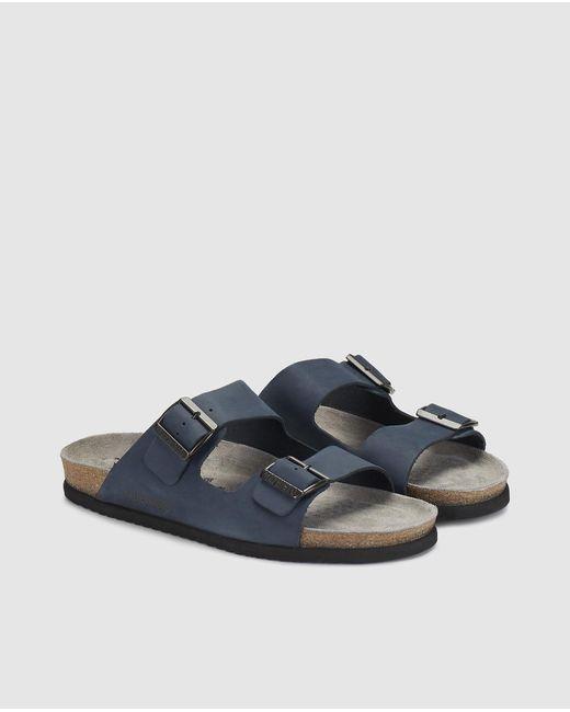 db39ebacfba4 ... Mephisto - Blue Leather Sandals for Men - Lyst ...