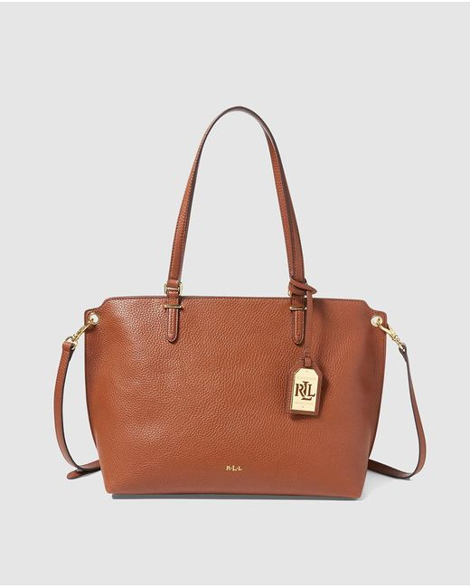 Lauren by Ralph Lauren | Anfield Brown Shopper Bag With A Removable Strap | Lyst
