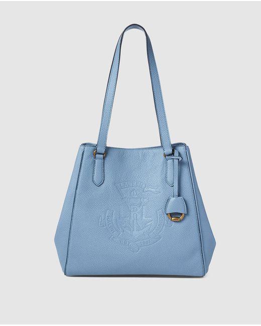 58a3d1d818fb Lauren by Ralph Lauren - Light Blue Calfskin Leather Tote Bag With Magnet  Closure - Lyst ...