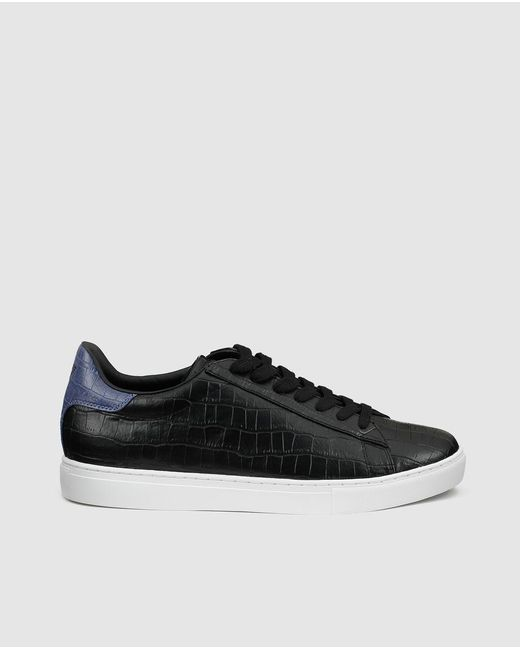 Armani Jeans | Black Lace-up Trainers for Men | Lyst