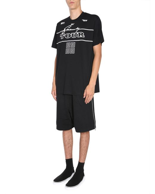 "Givenchy - Black Oversize T-shirt With "" Tour"" for Men - Lyst"