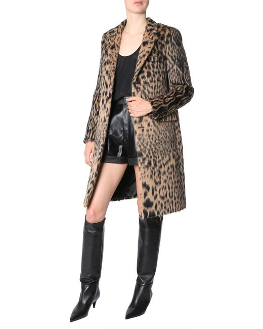 Saint Laurent - Multicolor Animalier Printed Chesterfield Coat - Lyst