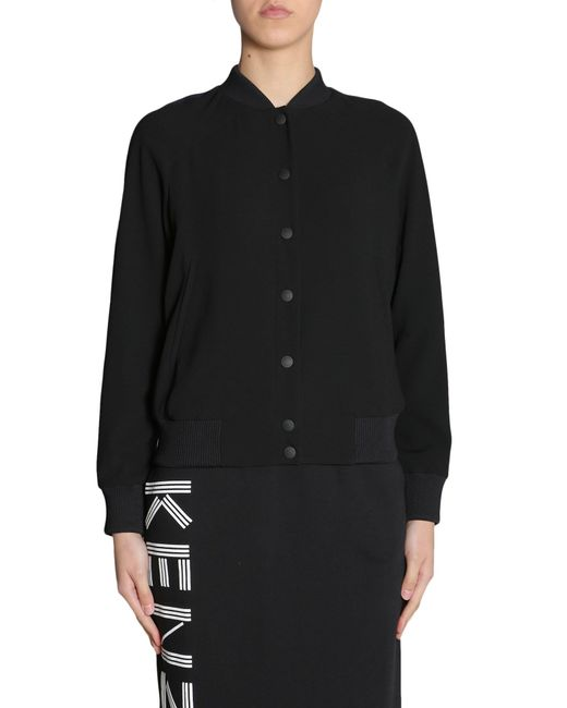 4f5666e6 Lyst - KENZO Tiger Embroidered Bomber Jacket in Black - Save 17%