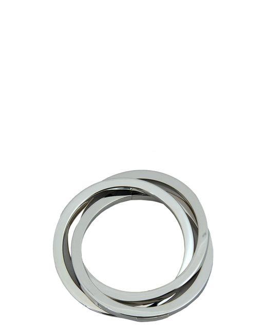 DSquared² - Metallic Silver Aluminium Triple Bracelet - Lyst