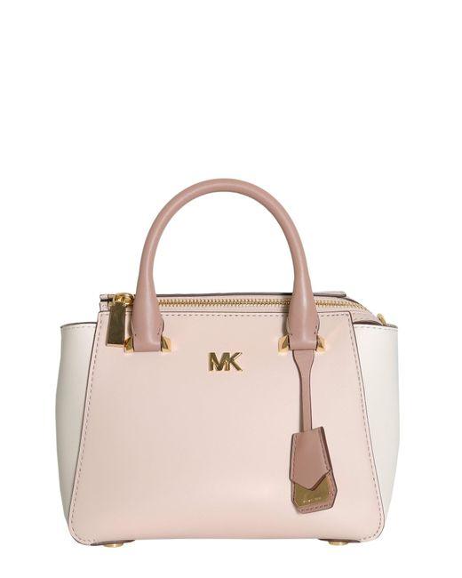 MICHAEL Michael Kors | Pink Nolita Mini Leather Messenger Bag | Lyst