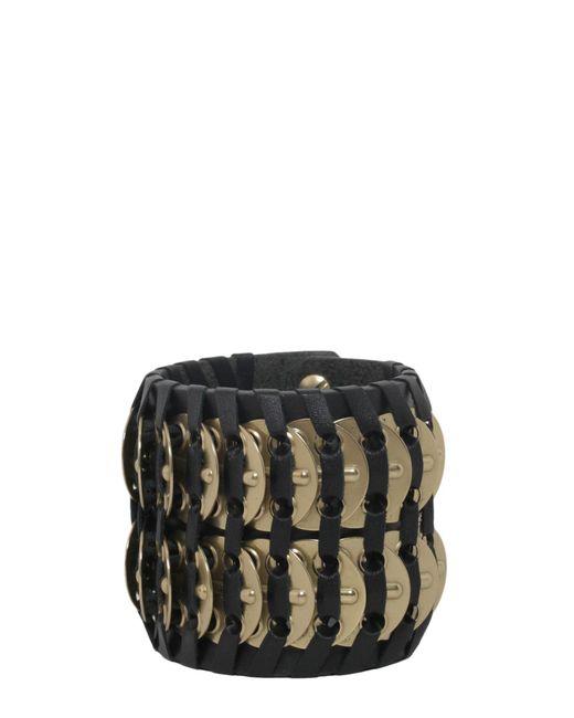 DSquared² - Black Samurai Bracelet With Brass Insert - Lyst