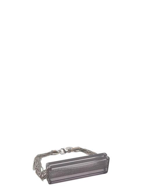 MM6 by Maison Martin Margiela - Black Bracelet With Acrilic Plate - Lyst