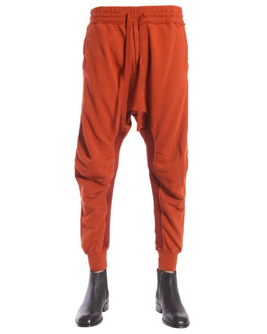 Haider Ackermann - Brown Cotton Jogging Trousers With Biker Details for Men - Lyst