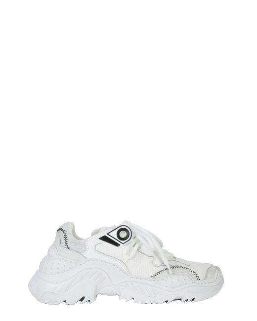 N°21 - White Oversize Running Mesh And Leather Sneaker - Lyst