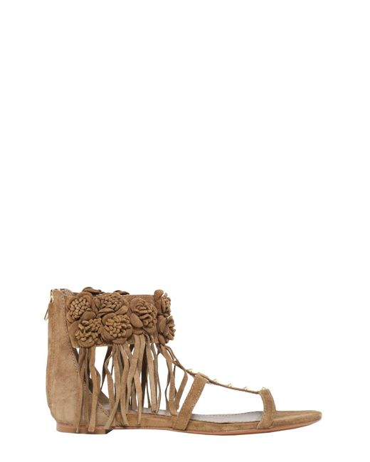 Ash | Brown Ophely Suede Sandal | Lyst
