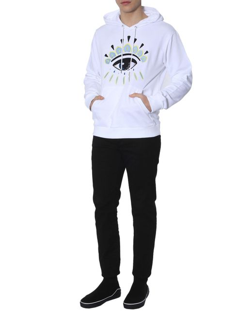 8d37a47c2 KENZO Eye Hoodie in White for Men - Save 26.64473684210526% - Lyst