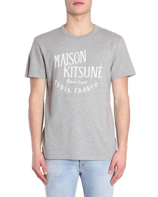 Maison Kitsuné - Gray Palais Royal Logo Print T-shirt for Men - Lyst