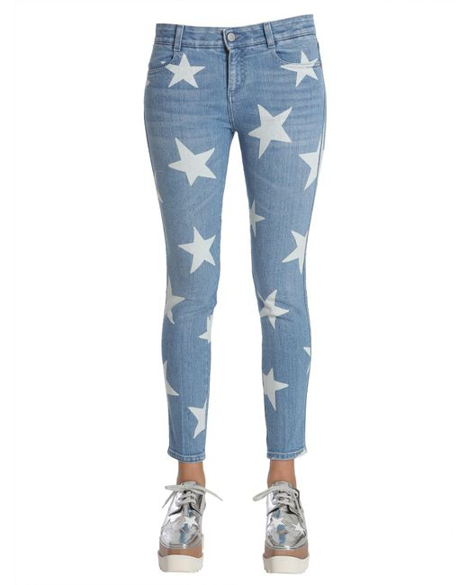 Stella McCartney - Blue Ankle Grazer Star Jeans - Lyst