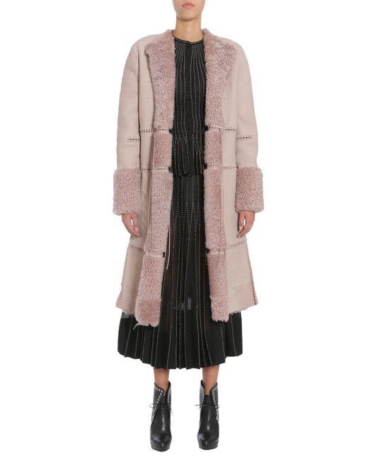 Alexander McQueen - Pink Stitch Detailed Coat - Lyst