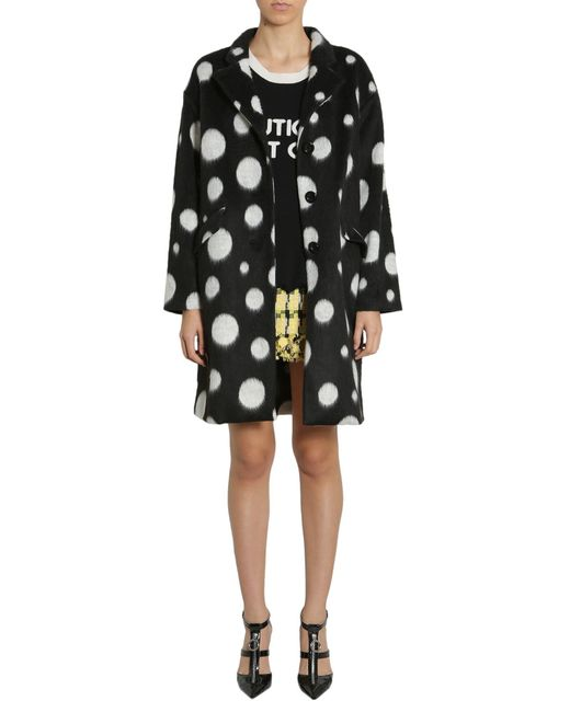 Boutique Moschino Black Giant Polka Dots Coat