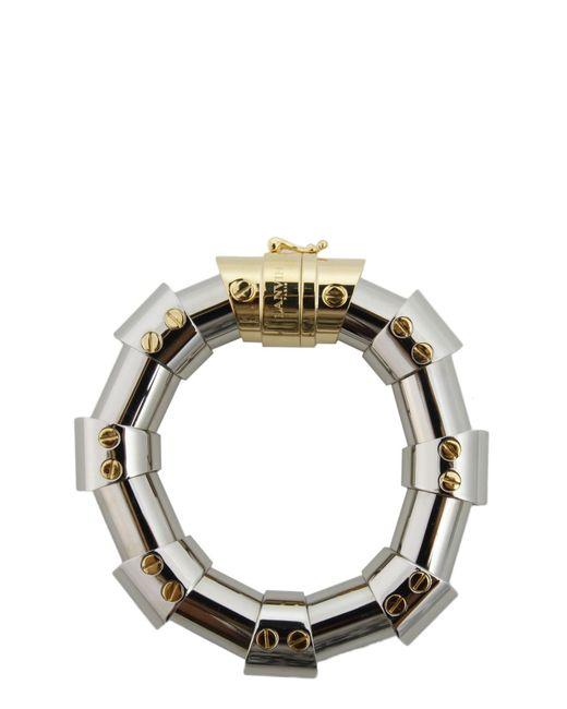Lanvin   Metallic Brass Bangle   Lyst