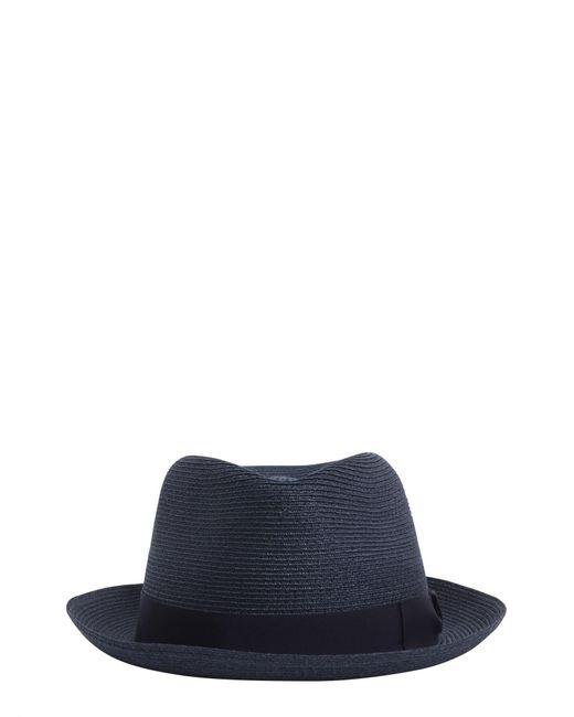 Borsalino - Blue Cappello Panama Tesa Piccola In Canapa for Men - Lyst