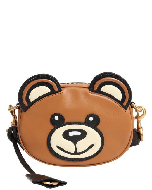 Moschino - Brown Teddy Bear Shoulder Bag - Lyst