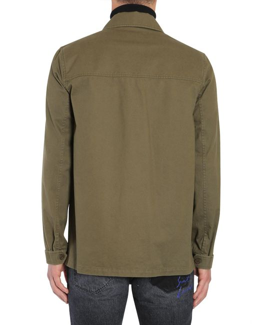 "Saint Laurent | Green ""bad Lieutenant"" Shirt Jacket In Cotton Gabardine for Men | Lyst"