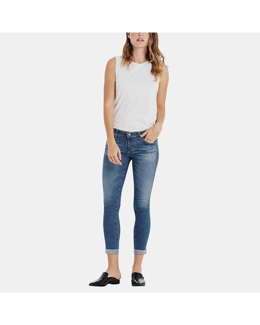 AG Jeans - Blue Stilt Roll-up Skinny Jean In 12 Years Canyon - Lyst