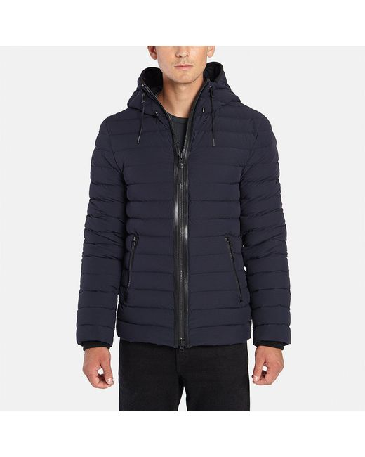 Mackage - Blue Ozzy Lightweight Down Jacket With Hood for Men - Lyst