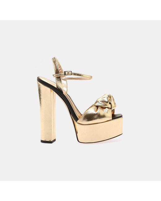 Giuseppe Zanotti - Metallic E800063 Chunky Heel Platform - Lyst