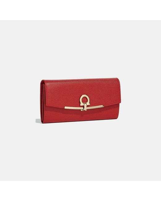 Ferragamo - Red Icona Intercontinental Wallet - Lyst