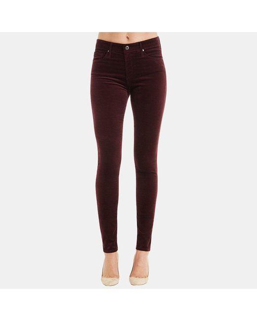 AG Jeans - Purple Farrah High Rise Skinny Jean In Deep Currant - Lyst