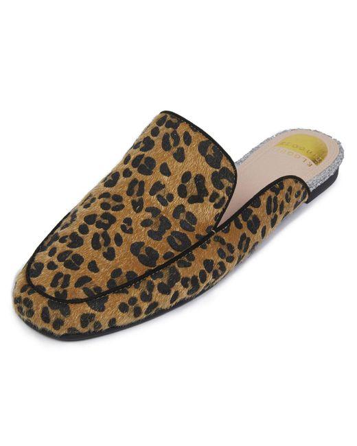 Eloquii - Brown Selena Leopard Mule - Lyst
