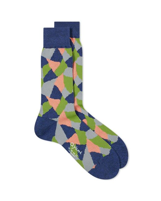 Ayame Socks - Blue Terracotta Sock for Men - Lyst