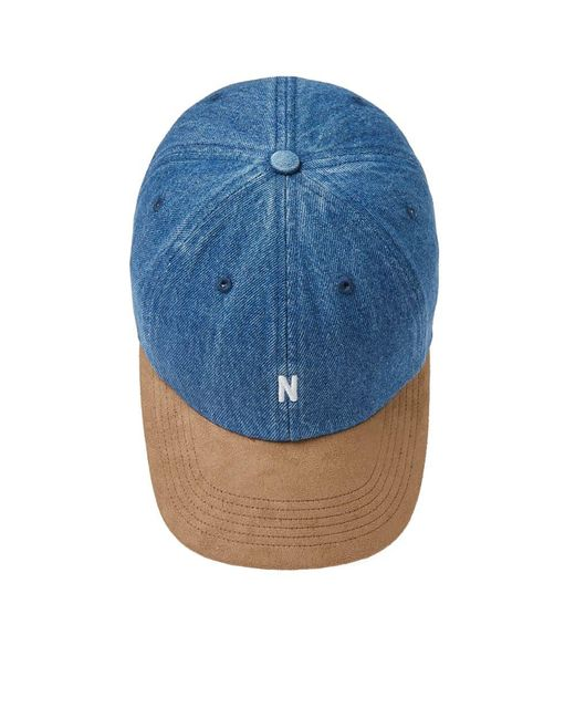 Lyst - Norse Projects Denim Sports Cap Indigo in Blue for Men - Save 24% 41416f0299f9