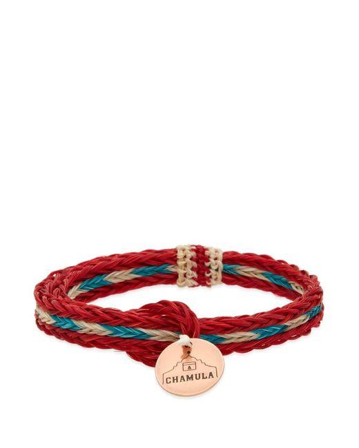 Chamula Red Braided Horsehair Bracelet for men