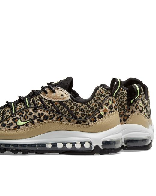83b3cf5a15 ... Nike - Brown Air Max 98 Premium W 'animal Pack' ...