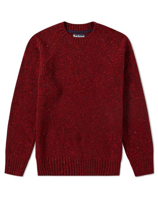 Barbour - Red Netherton Crew Knit for Men - Lyst