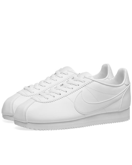 Nike - White Classic Cortez Leather W - Lyst
